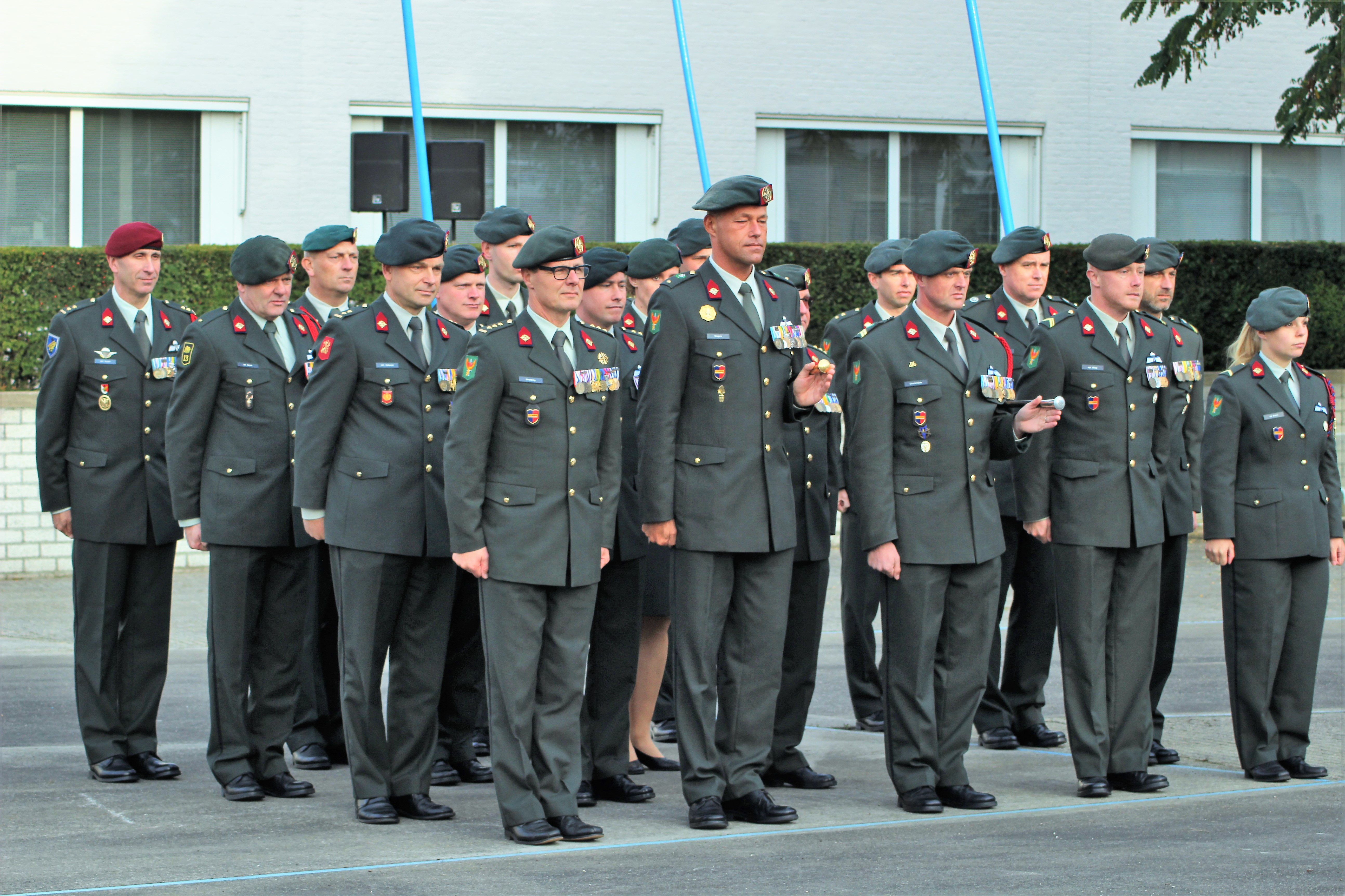 ceremonie militairen